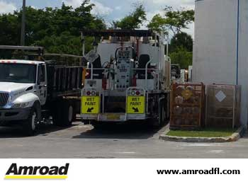 Okeechobee Amroad Florida Pavement Striping Markings Vertical Signs Road Bridge Maintenance Repair Asphalt Patching Crack Sealing Florida