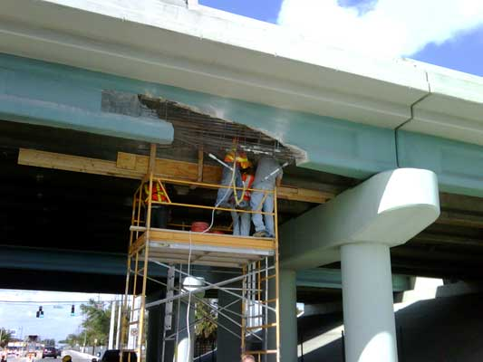 Hollywood ROAD & BRIDGE REHABILITATION INJECT AND SEAL CRACK  GUNITE Hollywood Amroad Hollywood FLorida